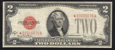 1928-G $2 LEGAL TENDER STAR NOTE Fr 1508*  FREE SHIPPING  *03908076A
