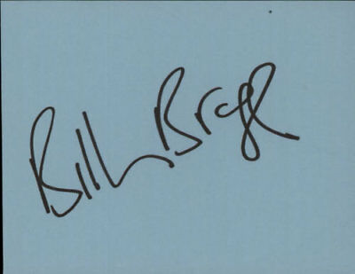 Billy Bragg Page Of Autograph Book UK memorabilia Autographed AUTOGRAPH N/A