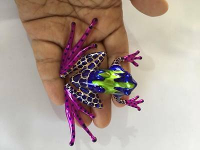 AMAZON POIION DART FROG TYPE I FIGURINE PAINTED HAND BLOWN GLASS ANIMAL GIFT s02
