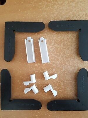 FLYSCREEN PARTS. 8 Corners, 8 Pegs, 4 Hinges