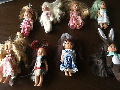 Kelly Dolls wearing clothes Lot 8 Retro Barbie's sister
