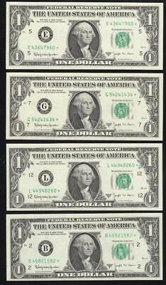 Uncirculated 1963-B $1 Barr *star* Frn Mixed Districts .... Free Shipping