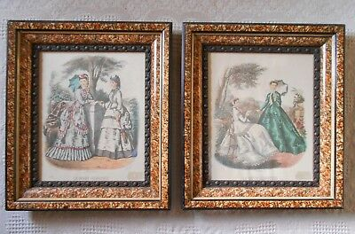 "2 Antique Victorian Eastlake Shadow Box Ornate Picture Frames 16"" x 14"""