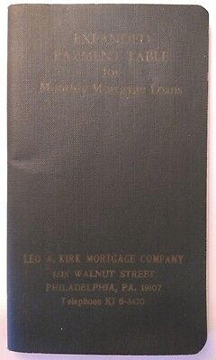 Vintage Mortgage Payment Amortization Table Booklet - 1969 - curio/cosplay/decor