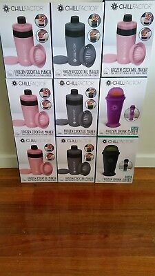 Chill Factor Frozen Cocktail & Drink Makers 9 Pack Bulk Pink Grey