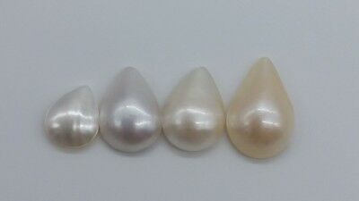 Mother of Pearl Mabe Loose Pearls B Grade Saltwater Australian Wholesale 4pc #14