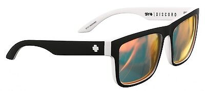 f006062883 Spy Discord Sunglasses - Whitewall - Happy Grey Green with Red Spectra