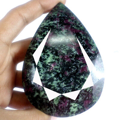 1400Ct Natural African Untreated Greenish Red RubyZoisite Pear Faceted Gemstone
