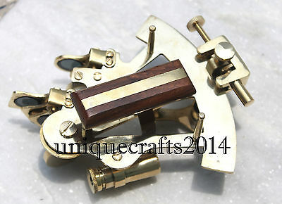 """Vintage Style Solid Brass Sextant 4"""" Ship Instrument Astrolabe Replica Gift Item"""