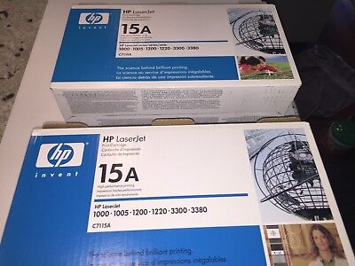 2x HP 15A (C7115A) Laser Toner Cartridge Black
