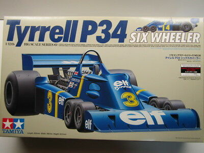 Tamiya 1:12 Scale Tyrrell P34 6 Wheel Model Kit - New - with Photo Etched Parts
