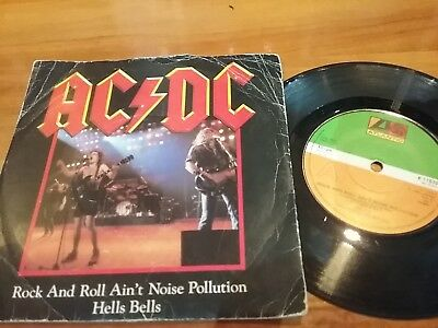 AC DC 1982 ROCK & ROLL AIN'T NOISE POLLUTION 45 VINYL 7in SINGLE RECORD JUKEBOX