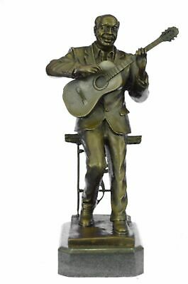 Hand Made European Bronze Large Black American Music -LEVEL Sculpture BC
