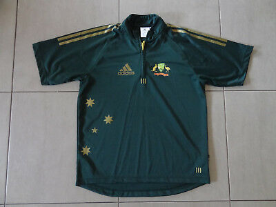 Mens Adidas Australia ODI Cricket Playing Shirt - Excellent Condition, Size Med