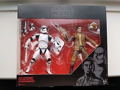 Star Wars Black Series Escape From Destiny Poe and Riot Trooper - New Sealed