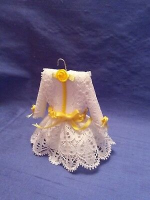 Dolls house 12th/1:12 scale Childs dress~ hand crafted by Eva