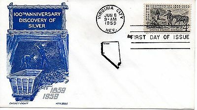 US FDC #1130 Silver, Cachet Craft (2653)
