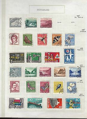 SWITZERLAND 1955-7 Collection FINE USED on Page  Stamps removed for Ship