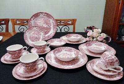 """Churchill """"The Brook"""" Dinner Set 20 Pieces Setting for Four"""