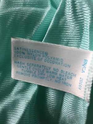 Satinessence Vintage long nightgown mint green
