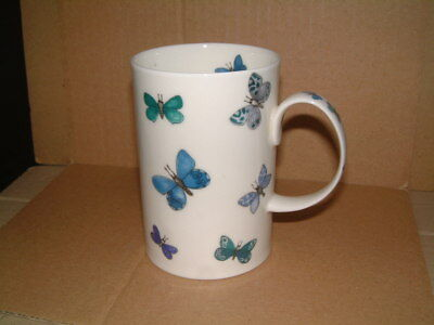 Unusual Dunoon Fine Bone China Mug - Flitterbug - Butterflies - Cherry Denman