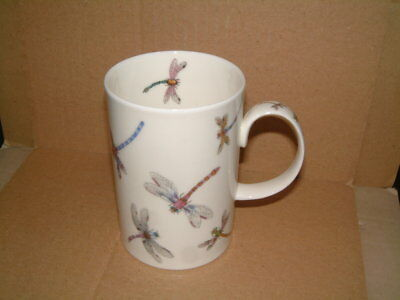 Unusual Dunoon Fine Bone China Mug - Flitterbug - Dragonflies - Cherry Denman