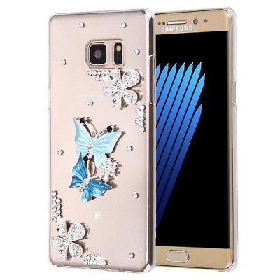 Pochette de protection Diamant papillon pierres Strass Silicone Galaxy Note 7