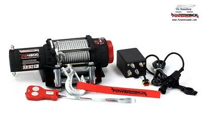 POWERWINCH ARGANO VERRICELLO ELETTRICO 12V TELECOMANDO WIRELESS PW4500lb