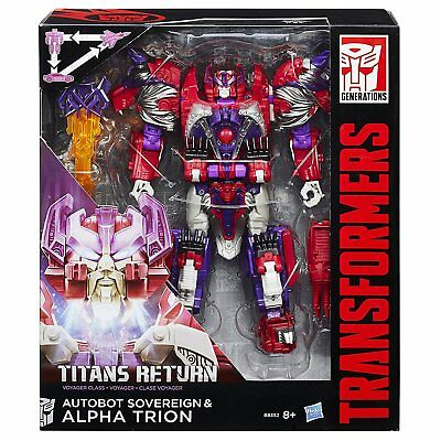Transformers Titans Return Voyager Class Autobot Soverign & Alpha Trion
