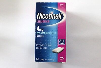 Nicotinell Liquorice 4mg Medicated Chewing Gum Extra Strength - 96 Pieces