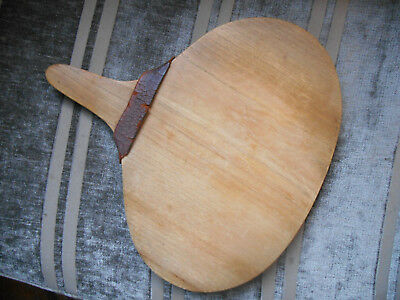 """Vintage Small 11"""" Bread Cheese Board Decoration Wood Kitchen Leather Chopping"""