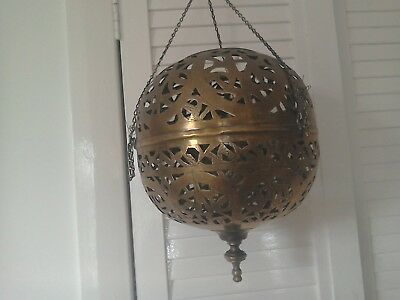 Vintage Brass Ceiling Light Shade Moroccan Indian