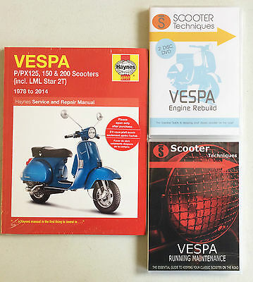 Vespa P/PX/T5/LML - 125/150/200 with Running Maintenance & Engine Rebuild DVDs