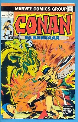 Conan N° 3 :  : 1° Dr. 1981 : Marvelcomics ( Oberon Nl )