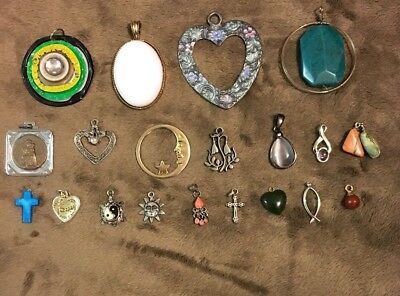 20 Piece Mixed Lot Of Vintage To New Pendants