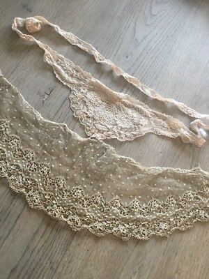 Antique Hand Made Lace Collar X 2