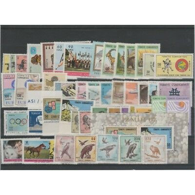 Turkey 1967 Year Complete 48 Values - 1Bf New Mnh Mf 52484