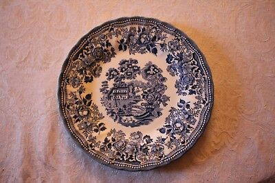 Myott Meakin Blue and White Plate Made in England