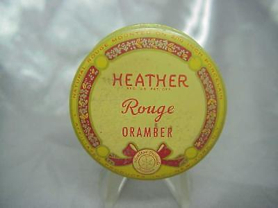 Antique  Heather Rouge Oramber Tin Container ....*2/18