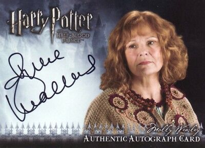Harry Potter Half Blood Prince Update Julie Walters as Molly Weasley Auto Card