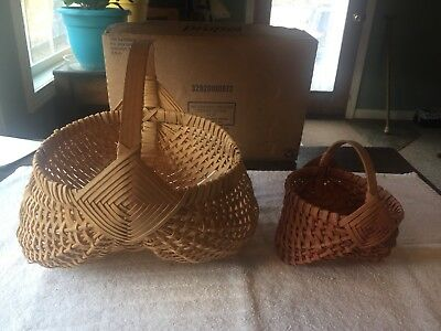 Vintage Collectible Buttocks Baskets Lot Of 2