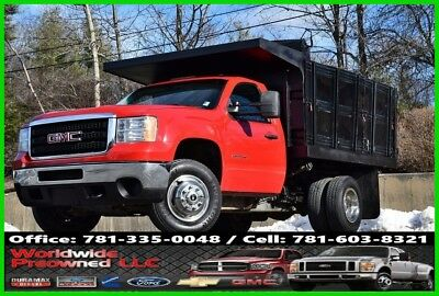 2012 GMC Sierra 3500 2012 GMC Sierra 3500HD Rack Body Dump Truck 6.0L Gas Chevy 2012 GMC Sierra 3500HD  Dump Truck 6.0L Vortec Gas Used