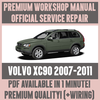 *WORKSHOP MANUAL SERVICE & REPAIR GUIDE for VOLVO XC90 2007-2011 +WIRING