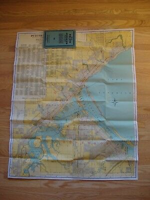 Vintage Pocket Map of TWIN PORTS of Duluth & Superior McGill-Warner 1921
