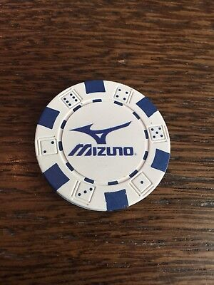 Mizuno Poker Chip Golf Ball Marker New