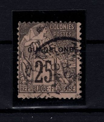 P58365/ GUADELOUPE / VARIETE / VARIETY / MAURY # 21c USED / CERTIFICATE / 165 €