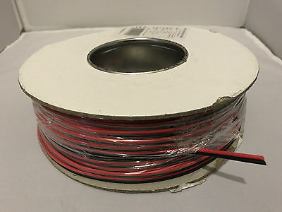 10A Red & Black Twin Core Power or Speaker Cable 100m Roll automotive wire 12v