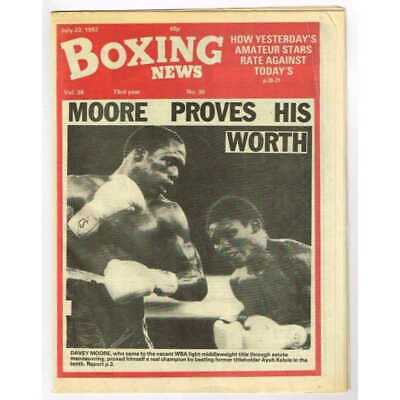 Boxing News Magazine July 23 1982 Mbox3097/C  Vol 38 No.30 Moore proves his wort