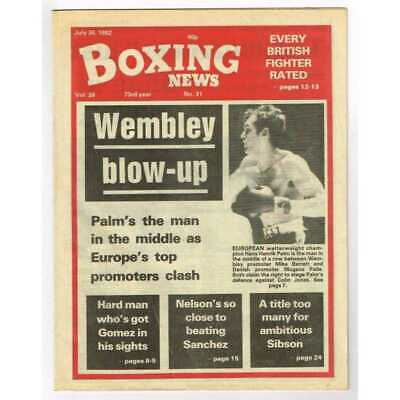 Boxing News Magazine July 30 1982 Mbox3097/C  Vol 38 No.31 Wembley blow-up
