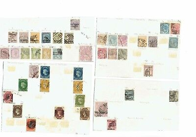 #175 Ceylon QV 18.. Early collection on leaves +1x card c£a lot Victoria